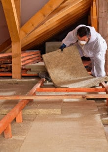 insulate loft floor with rock wool