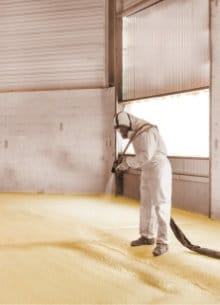 polyurethane spray floor